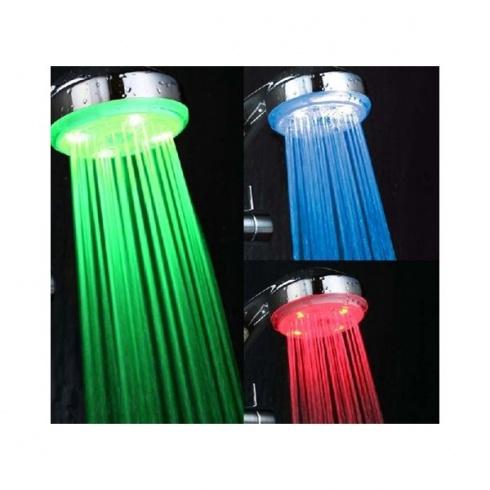 Ducha con iluminación LED para controlar la temperatura del agua