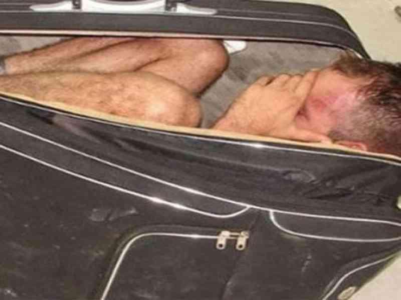 Un narco intenta escapar de la cárcel metido en una maleta