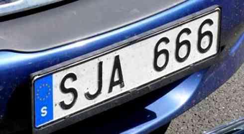 Retiran la matrícula con el 666 en Suecia