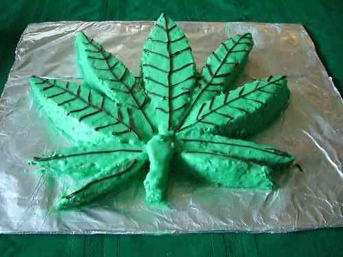 Tarta de marihuana por Navidad