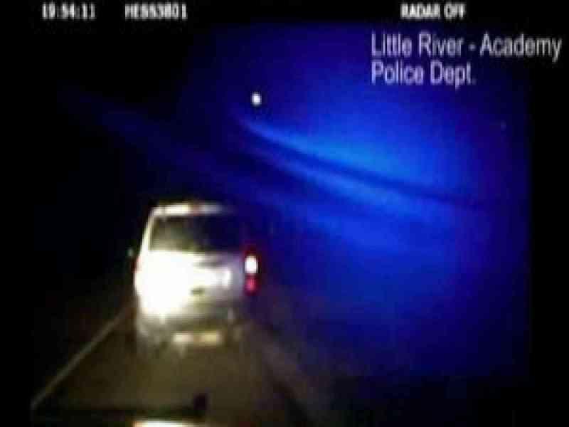La policía de Texas graba la caída de un meteorito