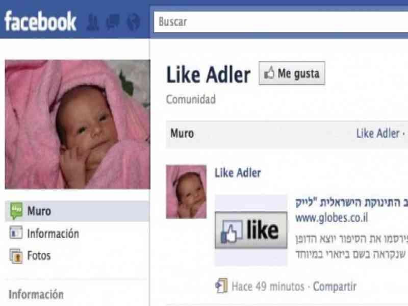 Llaman a su hija 'Me gusta' (Like) en honor al botón de Facebook