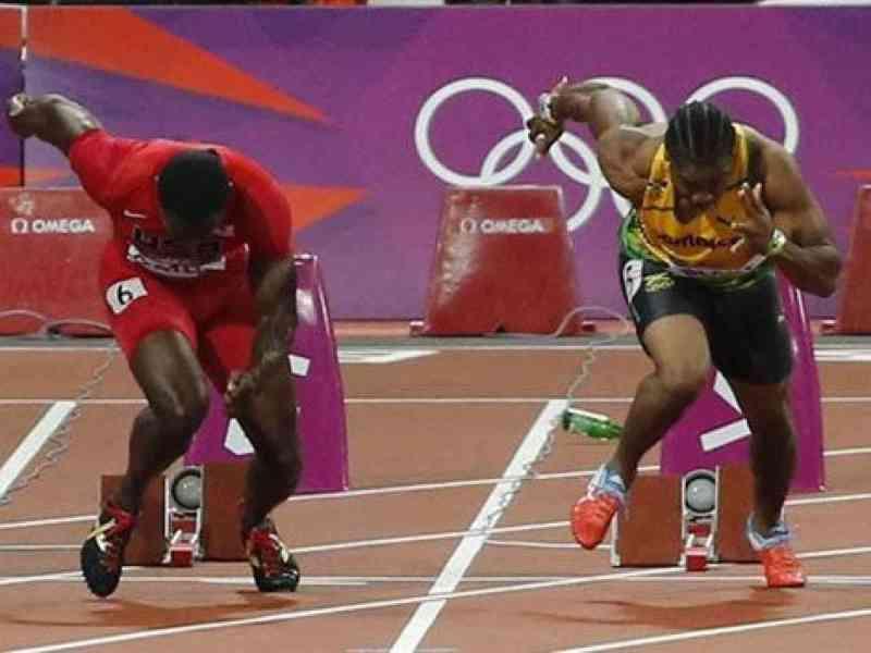 El botellazo que casi arruina la final de Bolt