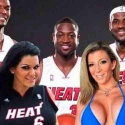 Dos actrices porno prometieron sexo oral a los hinchas de Miami si ganaba la NBA… ¡Y cumplieron!