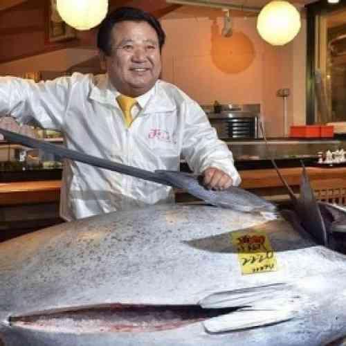 Un atún rojo de 222 kilos, subastado en Japón por 1,35 millones de euros