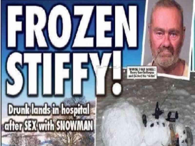 Un hombre casi pierde el pene tras intentar tener sexo con un muñeco de nieve