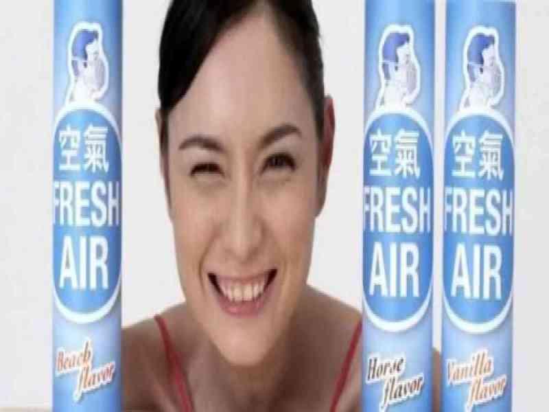 Venden aire fresco en latas para luchar contra la contaminación