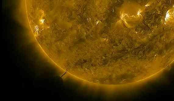 Ovni cogiendo energia del sol