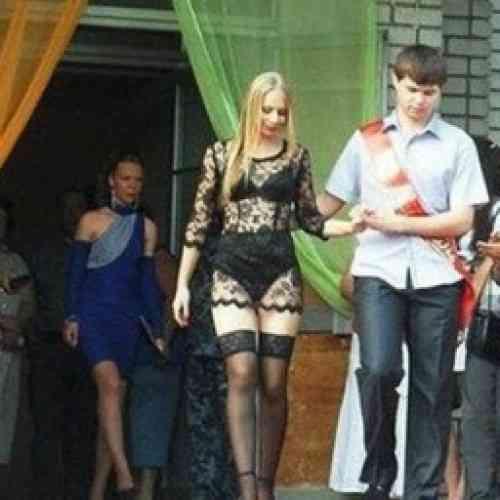 Una alumna ucraniana se gradúa en paños menores
